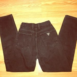 Guess Black Vintage Mom High Waisted Jeans 28